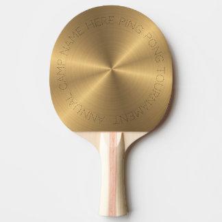 Pala De Ping Pong Parte radial metálica personalizada del oro del