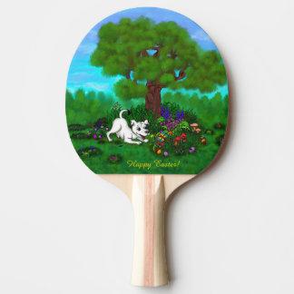Pala De Ping Pong Pascua - ceja y mariposa del perrito