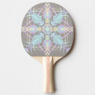Pala De Ping Pong Pastel en la mandala concreta de la calle