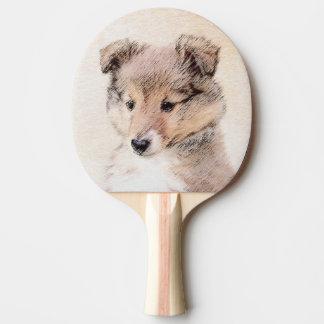Pala De Ping Pong Perrito del perro pastor de Shetland