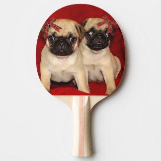 Pala De Ping Pong Perritos del barro amasado del navidad