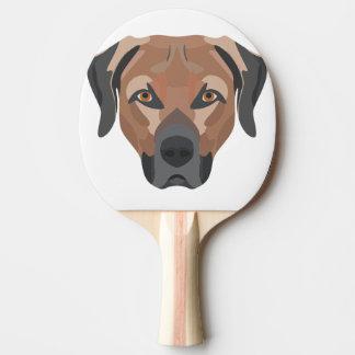 Pala De Ping Pong Perro Brown Labrador del ilustracion