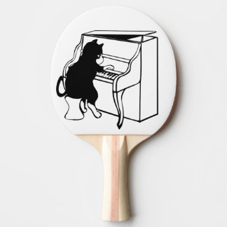 Pala De Ping Pong pianista del gato