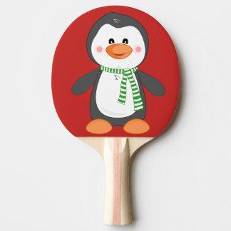 Pala De Ping Pong pingüino del navidad