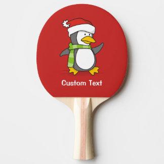Pala De Ping Pong Pingüino del navidad que camina en nieve
