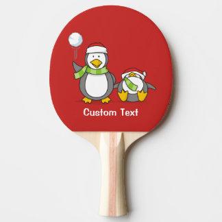 Pala De Ping Pong Pingüinos que se agravan del navidad