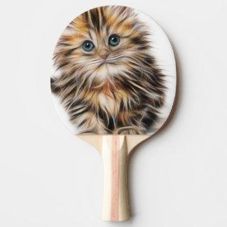 Pala De Ping Pong Pintura adorable del gatito