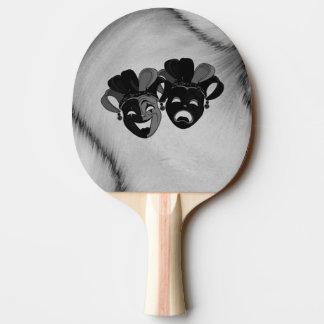 Pala De Ping Pong Plata de las máscaras del bufón del teatro de la