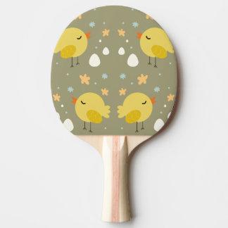 Pala De Ping Pong Polluelos lindos de pascua y pequeño modelo de los