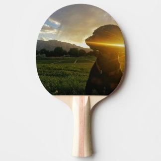 Pala De Ping Pong Puesta del sol sobre Boulder Colorado