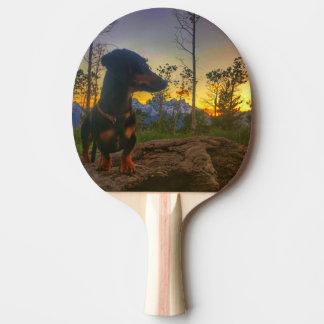 Pala De Ping Pong Puesta del sol sobre el Tetons