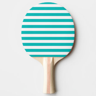 Pala De Ping Pong Rayas horizontales de la aguamarina