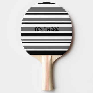 Pala De Ping Pong Rayas negras, grises, blancas adaptables