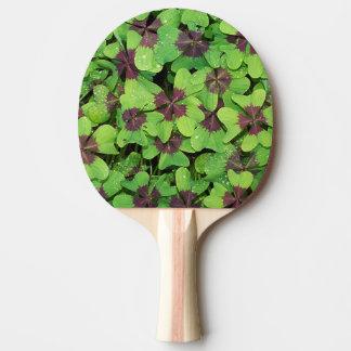 Pala De Ping Pong Remiendo del trébol de cuatro hojas (alazán)