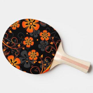 Pala De Ping Pong remolino del arte del vector de las flores del