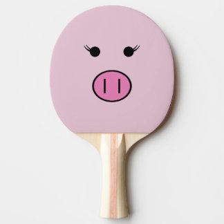 Pala De Ping Pong Sadie el cerdo rosado el   Kawaii lindo