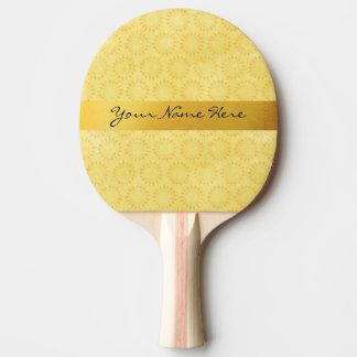 Pala De Ping Pong ¡Sol de encargo! Brillante, feliz, amarillo y oro
