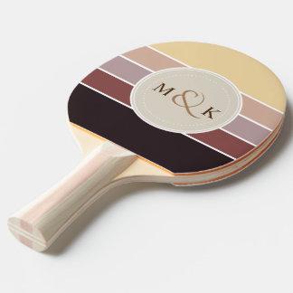 Pala De Ping Pong Sombras de la paleta de colores 001 del chocolate