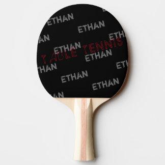 Pala De Ping Pong table_tennis negros frescos con el perfil de
