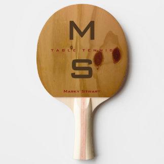 Pala De Ping Pong textura de madera rústica/granos de madera con