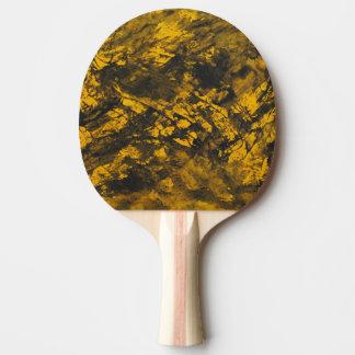 Pala De Ping Pong Tinta negra en fondo amarillo