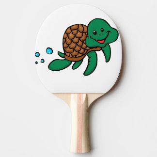 Pala De Ping Pong Tortuga de mar del dibujo animado