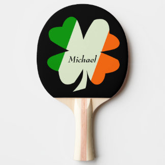Pala De Ping Pong Trébol irlandés de la bandera personalizado