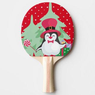 Pala De Ping Pong Un pingüino festivo - 1