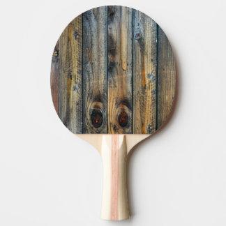 Pala De Ping Pong Único fresco de la foto de madera de la textura