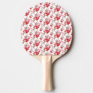 Pala De Ping Pong Velas de las Felices Navidad del vintage de Falln