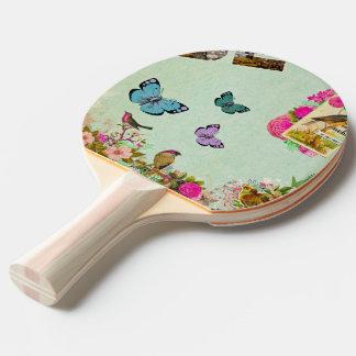 Pala De Ping Pong vintage, nouveau del arte, beige, gris, art déco,