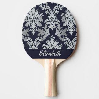 Pala De Ping Pong Y de plata paleta personalizada damasco púrpura