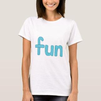 palabra de la diversión en camiseta de la