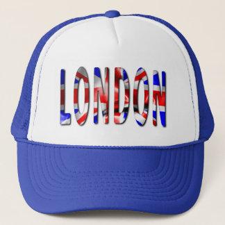 Palabra de Londres con el gorra del camionero de