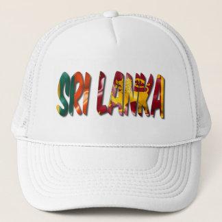 Palabra de Sri Lanka con el gorra del camionero de