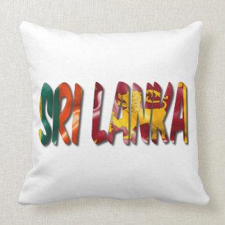 Palabra de Sri Lanka con la almohada de tiro de la