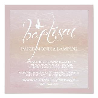 Palabra del bautismo con la invitación de la invitación 13,3 cm x 13,3cm