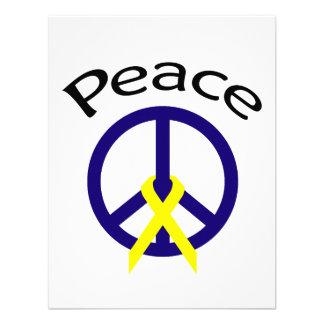 Palabra y cinta de la paz de los azules marinos comunicados
