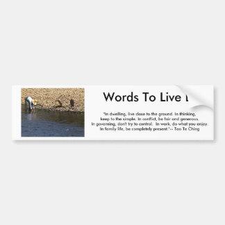 Palabras a vivir cerca - jGibn de la mujer de Tao Pegatina Para Coche