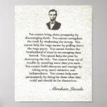 Palabras de la sabiduría en Parchment= Abraham Lin Posters