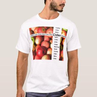 Palabras de la sidra camiseta