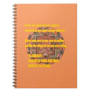 Palabras de Manda a vivir por el jGibney Libreta Espiral