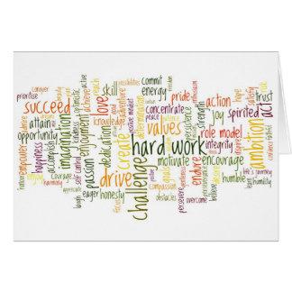 Palabras de motivación #2 para la acción positiva tarjeta pequeña
