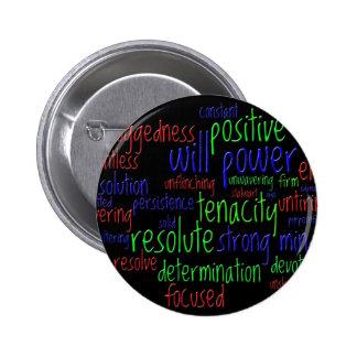 Palabras de motivación por el Año Nuevo, actitud Chapa Redonda De 5 Cm