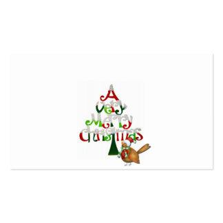 Palabras del árbol de navidad tarjetas de visita