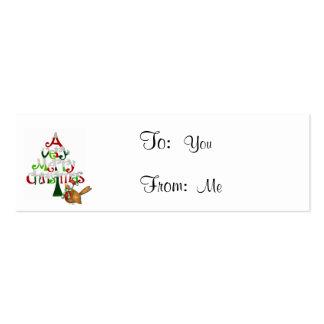 Palabras del árbol de navidad tarjetas de visita mini