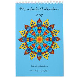 Palabras del calendario 2017 de la mandala de la