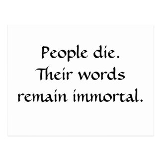 Palabras inmortales postal