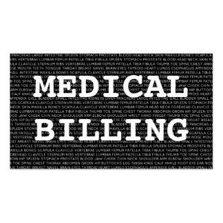 Palabras médicas de la facturación médica plantillas de tarjetas personales