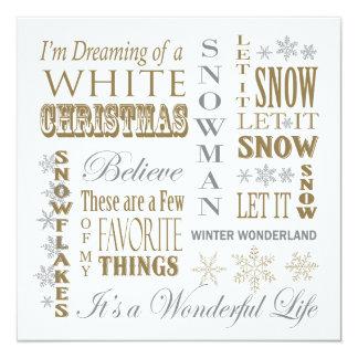 palabras modernas del navidad del vintage comunicados
